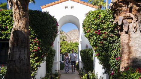 Besucher im La Quinta Resort& Club in Palm Springs, Kalifornien
