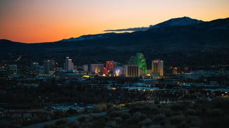 Die Skyline von Reno, Nevada