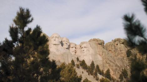 Das Mount Rushmore National Memorial in South Dakota