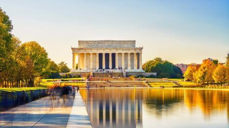 Das Lincoln Memorial an der National Mall in Washington, D.C.