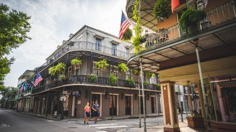 Bummel durch das French Quarter in New Orleans, Louisiana