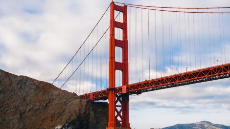 Die Golden Gate Bridge in San Francisco, Kalifornien