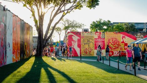 Öffentlich zugängliche Kunstwerke im Wynwood District in Miami, Florida