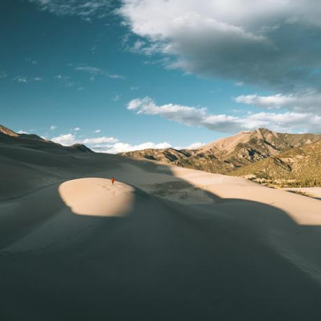 Wanderung im Great Sand Dunes-Nationalpark in Colorado
