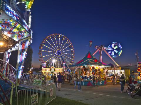 Jahrmarkt auf der Ozark Empire Fair