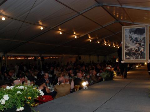 Kunstvorführung auf der Buffalo Bill Art Show& Sale