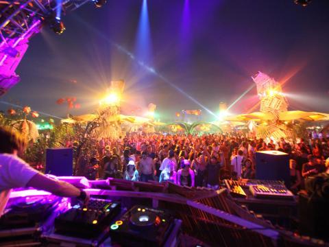 Die Menge beim Coachella Festival