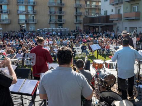 Livedarbietung vor Publikum auf dem Tucson Jazz Fest