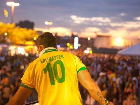 Blick von der Bühne beim Brazilian Day