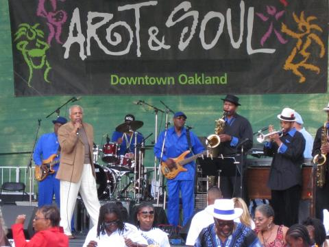 Konzert beim Art& Soul Festival in Oakland