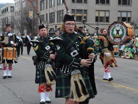 Dudelsackspieler auf der St. Patrick's Day Parade in Buffalo