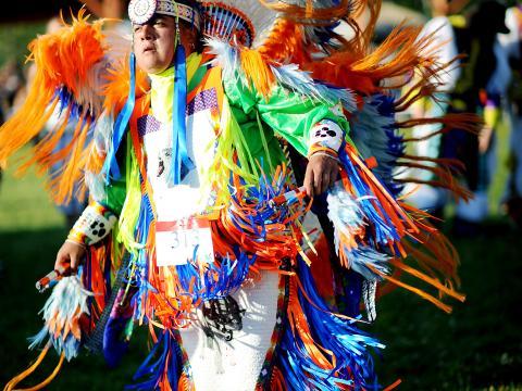 Teilnehmer am Sault Tribe Summer Gathering Powwow