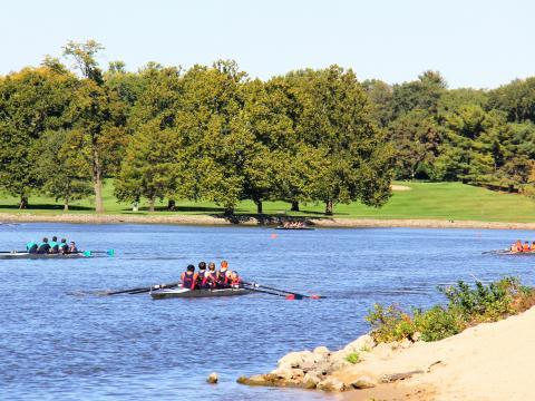 Schönes Wetter für die Rock River Regatta