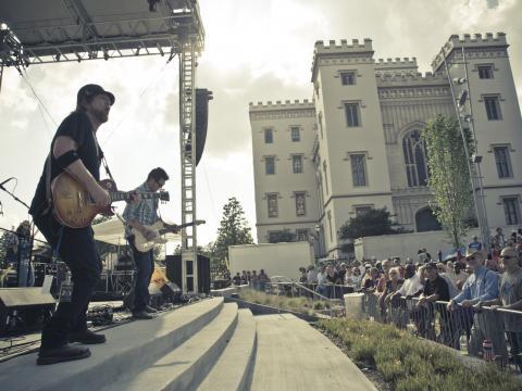 Jam-Session auf dem Baton Rouge Blues Festival