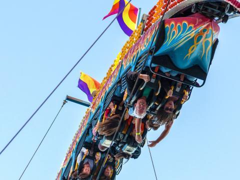 Kopfüber ins Vergnügen auf der State Fair of Louisiana