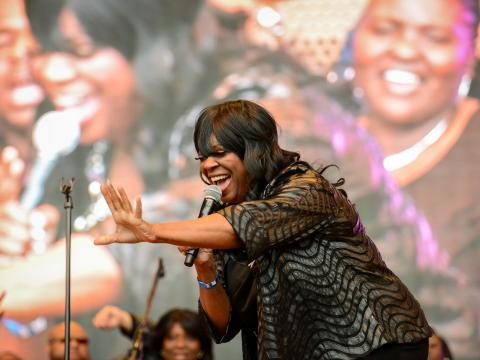 Publikumsnahe Performance beim Chicago Gospel Music Fest