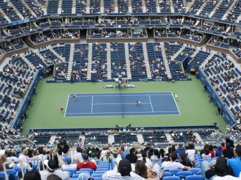 Blick auf den Center Court der USOpen