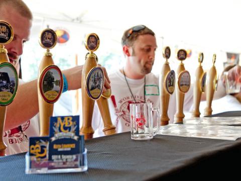 Bierverkostung auf der World Expo of Beer