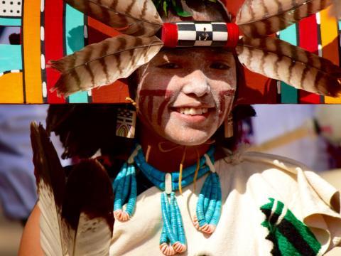 Mädchen auf dem Hopi-Festival