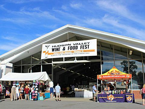 Der Eingang zum Hudson Valley Food and Wine Fest