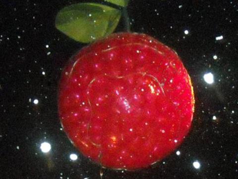 Der CherryT Ball, der pünktlich zum Neujahrswechsel in Traverse City vom Himmel fällt