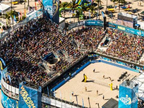 Das Turnier SWATCH FIVB Beach Volleyball in Fort Lauderdale
