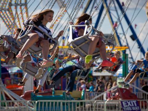 Vergnügen in luftiger Höhe auf der Illinois State Fair