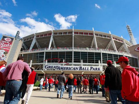 Saisoneröffnung am Great American Ball Park – dem Heimatstadion des Baseball-Teams Cincinnati Reds