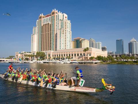 Drachenbootrennen in Tampa, Florida