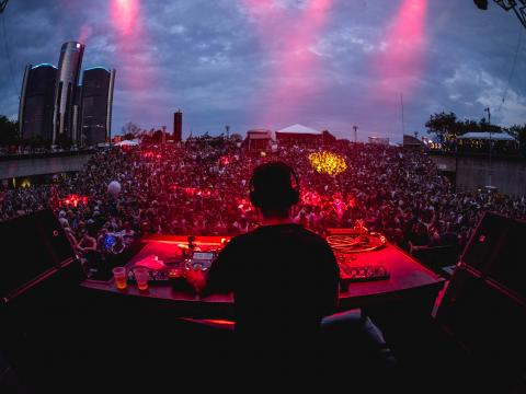 Maceo Plex und Ben Klock beim Movement Electronic Music Festival auf der Hart Plaza