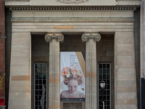 Werbung für eine Aufführung im Rahmen des Humana Festival of New American Plays in Louisville, Kentucky