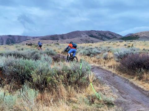 Mountainbiker beim Pocatello Fall Ultra in Idaho