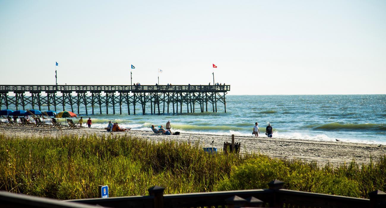 Sand Und Atlantik In Myrtle Beach South Carolina
