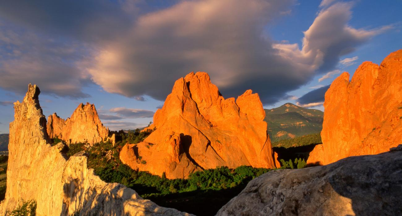 Colorado Springs Colorado Pikes Peak Und Garden Of The Gods