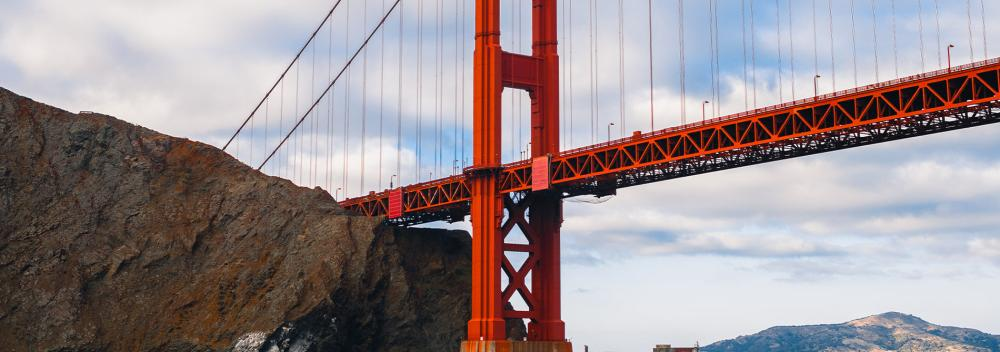 Die Golden Gate Bridge in San Francisco, Kalifornien