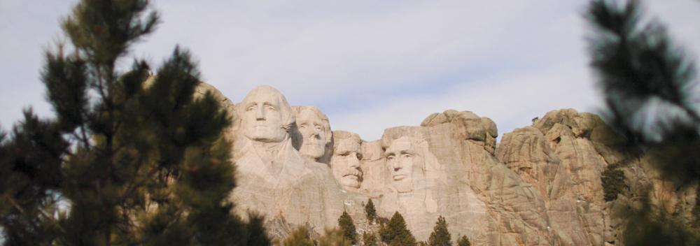 Das Präsidentenquartett am Mount Rushmore in South Dakota