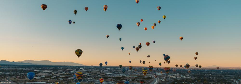 Die International Balloon Fiesta in Albuquerque, New Mexico